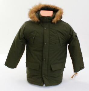 f736a02b2 G Unit Olive Green Zip Front Hooded Winter Jacket Coat Youth Boy s ...
