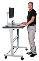 "40"" Mobile Adjustable Height Stand Up Desk With Monitor Mount (black Shel"