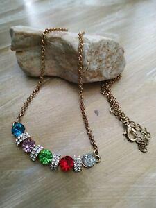 Vintage-multicoloured-rhinestones-goldtone-necklace
