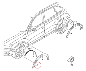 Genuine-Audi-Q5-rueda-Arche-ampliacion-Trim-extension-Fender-derecho-8R0853728A1QP