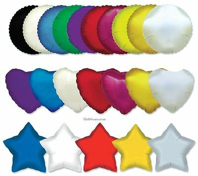 5 x Star, Round or Heart Shaped Foil Helium Balloons