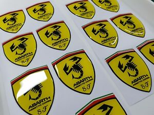 x3-SECONDS-Fiat-500-595-Abarth-Assetto-Corse-Badge-wing-Decals-Stickers-60mm