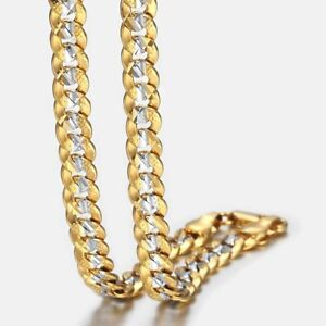6mm-18-034-36-034-Silver-Gold-Filled-Curb-Cuban-Link-Chain-Necklaces-For-Men-Unisex