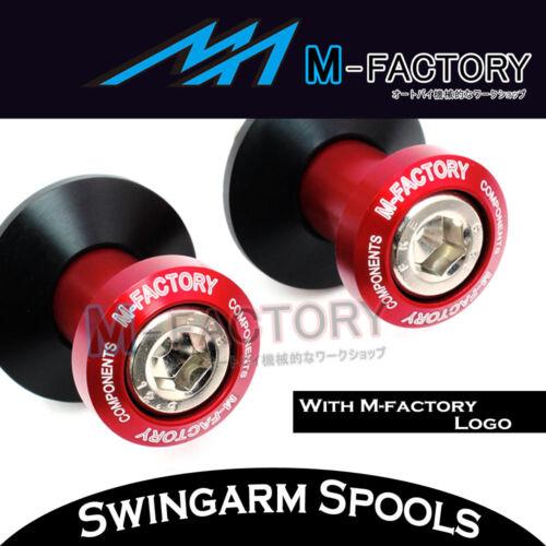 Red ALLOY Swingarm Spools Bobbins For Yamaha YZF R1 99-18 10 11 12 13 14 15 16