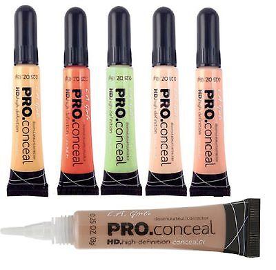 6- L.A. Girl Pro Concealer HD High Definition Liquid Concealer *Pick any Color.