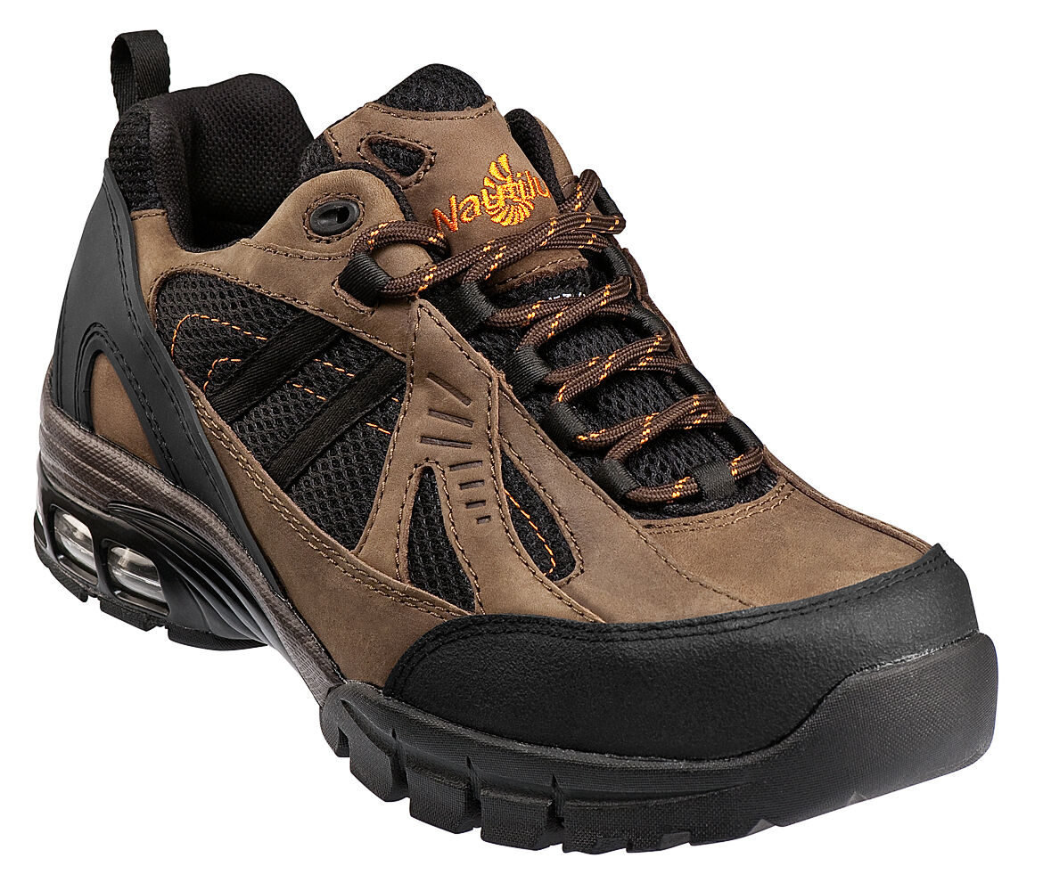 NAUTILUS Mens Size 8 WXW COMPOSITE Toe Safety shoes BROWN New 1700
