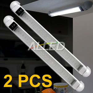 2X-12V-Cool-White-298MM-LED-Swivel-Lamp-Boat-Strip-Car-Trailer-Cabinet-Bar-Light