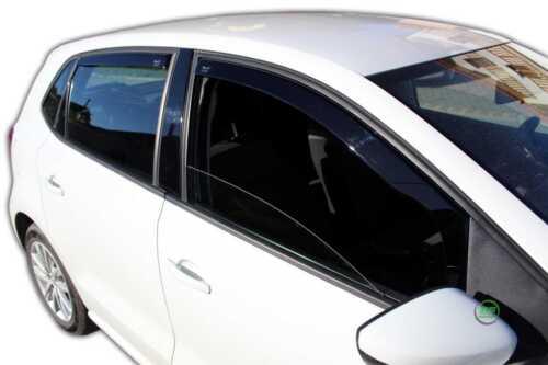 DVW31178 VW POLO 6R 5 DOOR 2009-2017 WIND DEFLECTORS 4pc  HEKO TINTED