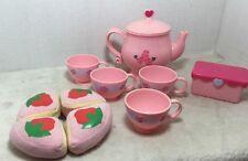 Tea Set By Playskool 2007 Pink Plastic Roses