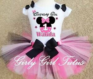 cbc577a13a58 Baby Girl Minnie Mouse 1st & 2nd Birthday Tutu Outfit Dress ...