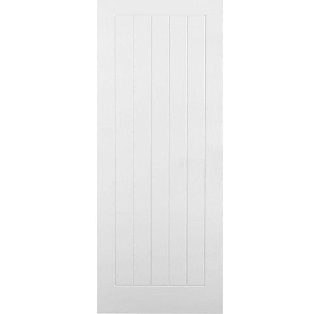 White Internal Doors Vertical 5 Panel Moulded Primed White