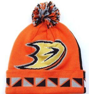 dea5911de0e Anaheim Ducks Mitchell   Ness 2 Face NHL Team Pom Pom Knit Hockey ...