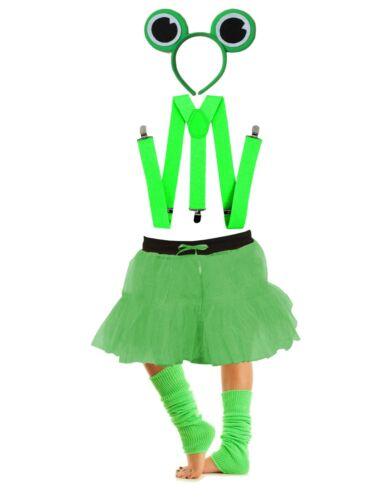 Girls Cute FROG TUTU COSTUME SET Childs World Book Week Kids Fancy Dress Outfit