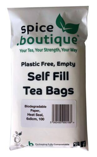 Heat Seal Boutique biodegradabili White Paper Self riempimento buste trasparenti La Spezia 6x8cm