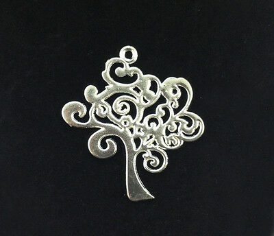 10PCS Silver Plated TREE OF LIFE Charm Pendants A15998SP