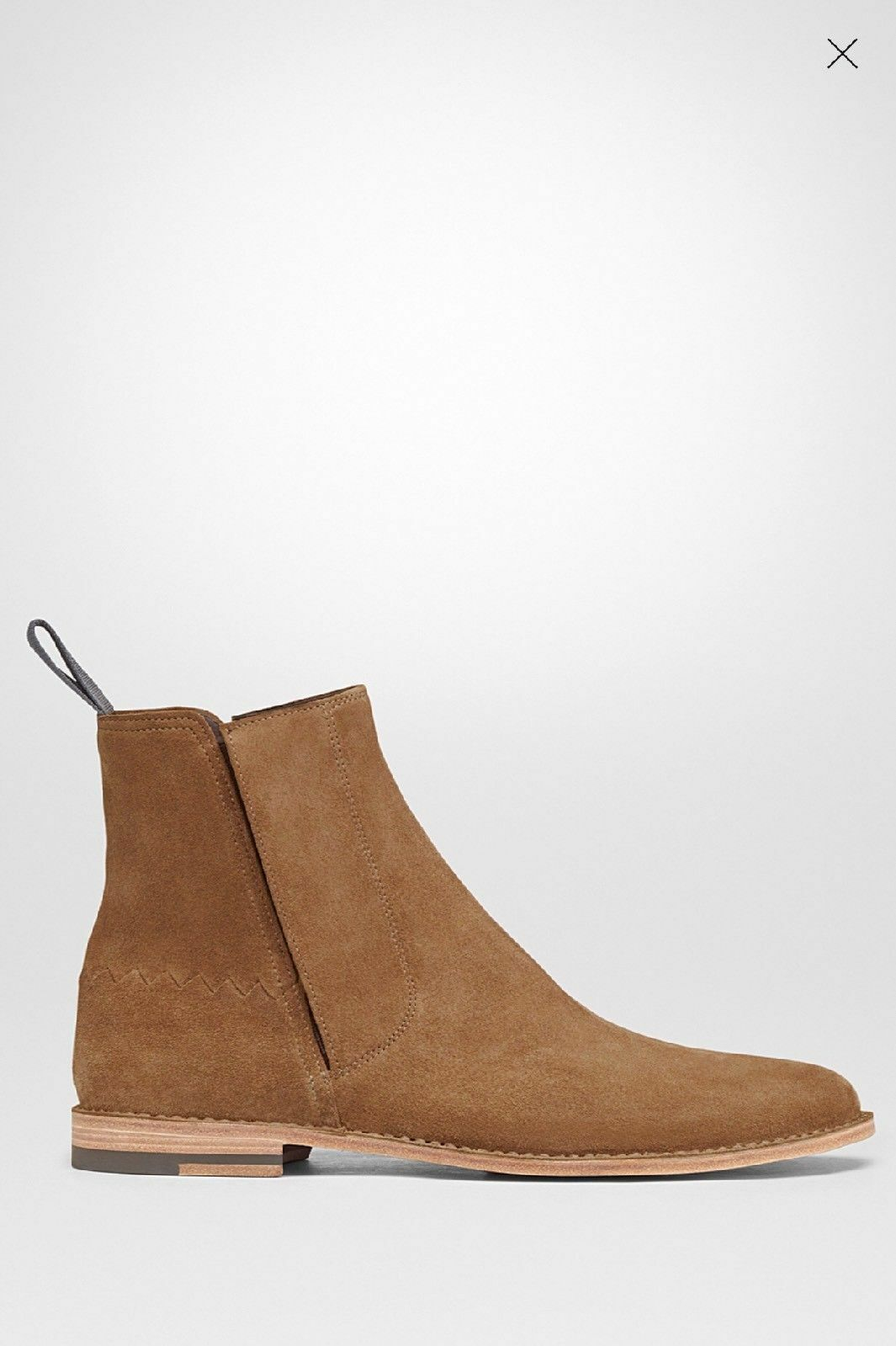 New Handmade Men's Zipper Suede Leather Boots in Camel Shade, luxury boots