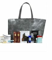 Neiman Marcus Huge Grey Tote Bag + Eight Beauty Samples New, Limited Edition