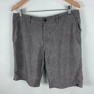 Quiksilver-Mens-Board-Shorts-34-Grey-Pockets