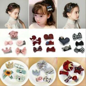 Baby-Girl-Kids-Infant-Cloth-Bowknot-Bow-Hair-Clip-Hair-Bow-Clips-Hair-Pins-New