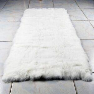 Natural-White-Rabbit-Fur-Throw-REAL-FUR-NATURAL-Fur-Throw-Spread-22-034-X43-034-Rug
