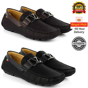 Mens-Casual-Smart-Slip-On-Shoes-Loafers-Designer-Driving-Office-New-Size