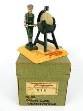 Vintage Fleischmann German Tin Steam Engine Toy #235 Orig Box Man Grinding Stone