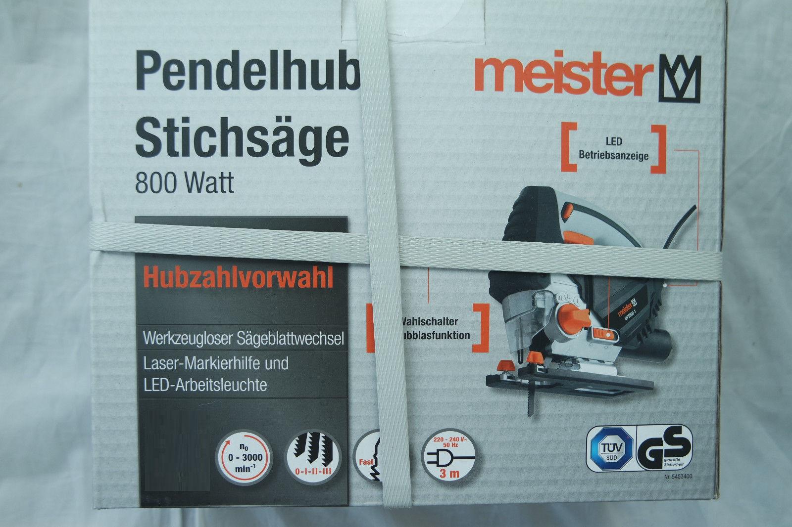 Meister Stichsäge MPS800-1 800 Watt Säge