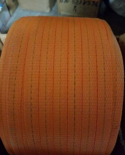 "08817-11/"" D x 6/"" H Woven Nylon Strapping Orange 3/"" Core 5//8/"""