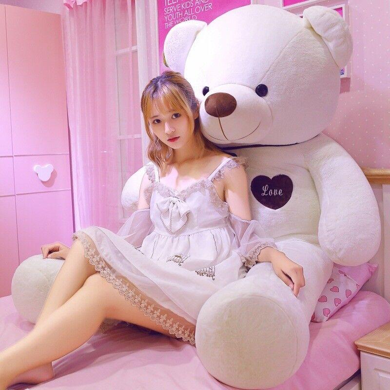60cm-200cm GIGANTE TEDDY BEAR PLUSH PELUCHE SOFT TOYS Doll Compleanno regalo UK