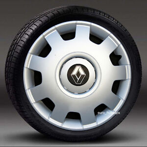 4x16-034-rueda-Adornos-Tapacubos-Cubiertas-Para-Encajar-Renault-Espace-Trafic-cantidad-4
