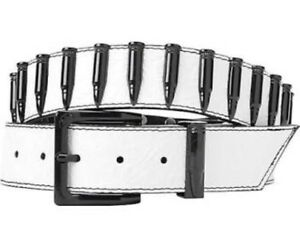 NEW-WITH-TAGS-DESIGNER-ARMOURDILLO-RIDDLE-IVORY-BLACK-BULLET-LEATHER-BELT