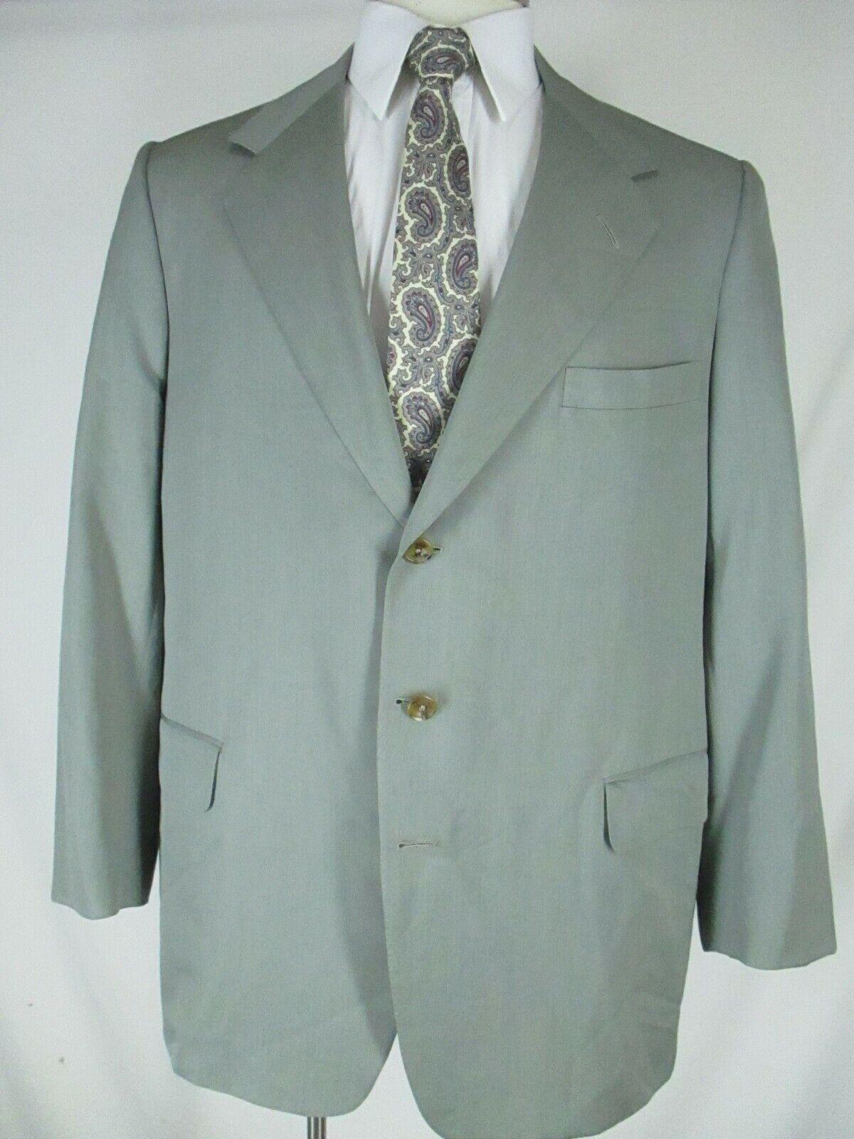 Oxxford Clothes Mens Olive 3 3 3 Btn Sack Blazer 42L Working Cuffs Trad Ivy 7c1