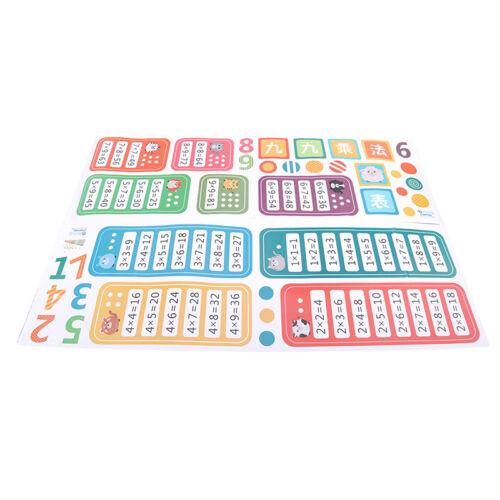 Cartoon Children/'s 9*9 Multiplication Wall Stickers Room Kindergarten Decoration
