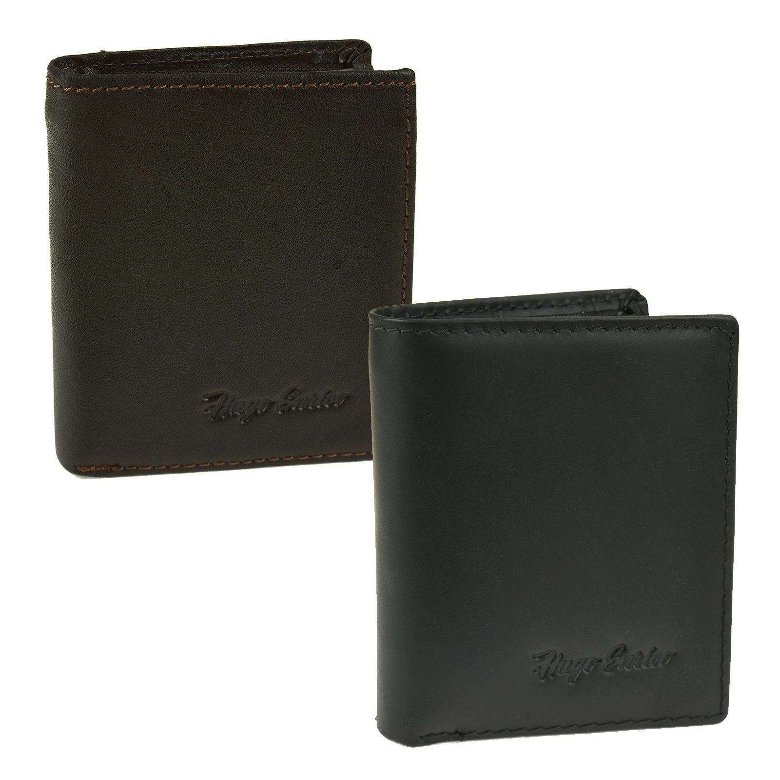 Hugo Enrico Mens Wallet BiFold Genuine Leather Coin Note Card Holder Gift Boxed