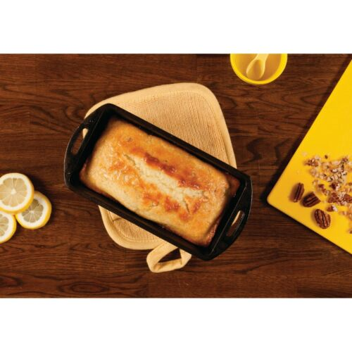 """Lodge 10-1//4/"""" x 5-1//8/"""" Cast Iron Seasoned MeatLoaf Cake Pan Campfire Durable NEW"""
