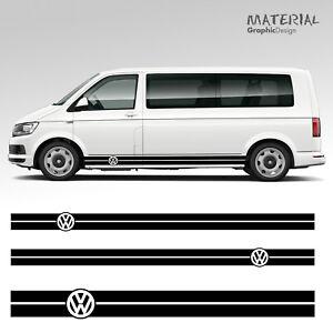 Volkswagen-VW-Transporter-Side-Stripe-Set-Decals-T4-T5-T6-Camper-Vehicle-Graphic