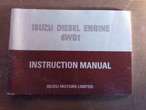 Details about Isuzu Diesel Engine Instruction Manual 6WG1 1J-1040-B15