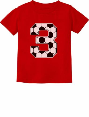 3rd Birthday Gift 3 Year old Soccer Fan Toddler Kids T-Shirt For Three year old