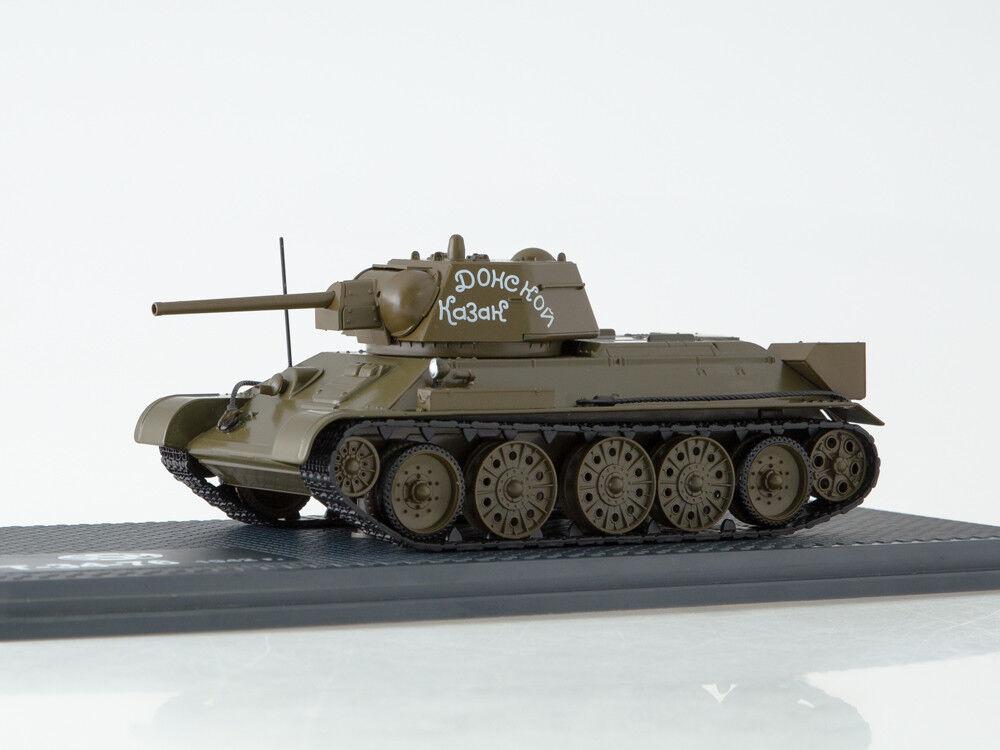 Tanque de modelo de escala 1 43 T-34-76 Don Cossack