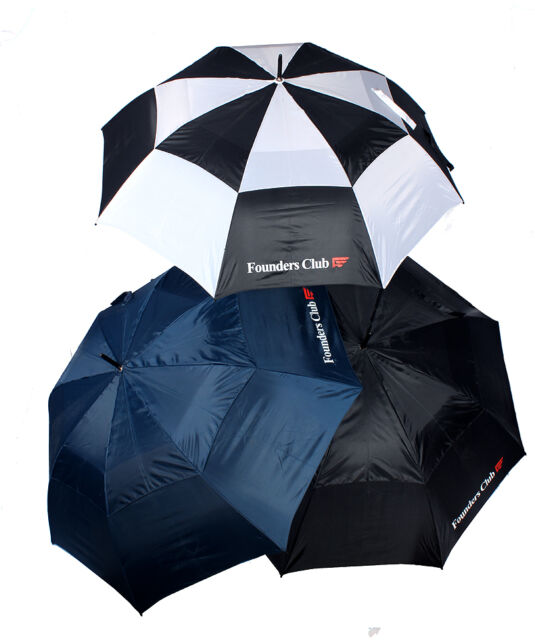 "Founders Club 60"" Golf Umbrella 3 Pack"