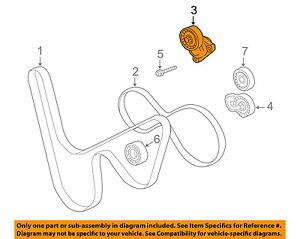 chevrolet gm oem 97 00 corvette serpentine drive fan belt tensioner RAV4 Belt Diagram image is loading chevrolet gm oem 97 00 corvette serpentine drive
