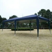 Outdoor Easy Pop Up Tent Cabana Canopy Gazebo With Carry Bag 10' X 20' Blue on sale