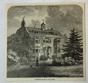 1885-magazine-engraving-CHARLES-DICKENS-HOUSE-AT-GAD-039-S-HILL