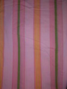 Vintage-Groovy-Retro-Boho-Stripe-Flat-Sheet-Orange-Pink-Green-Perma-Prest-Twin
