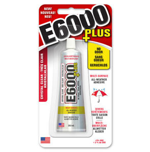 E6000 PLUS Multi Surface - No Odour Industrial Strength Adhesive Glue Clear 26ml