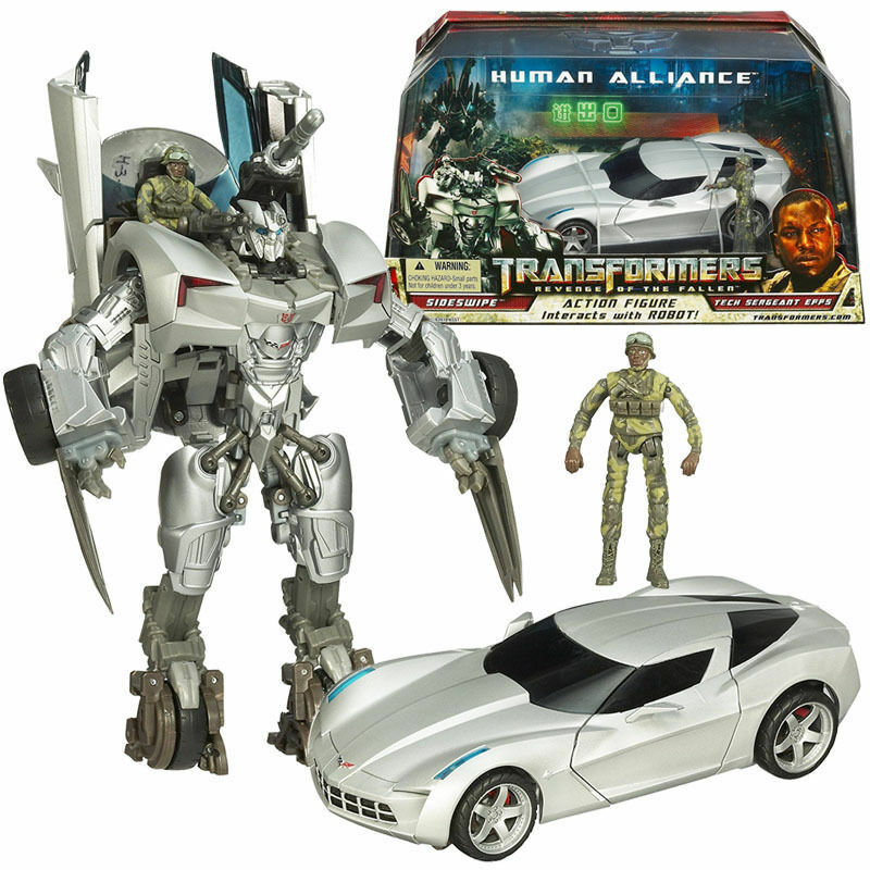 TRANSFORMERS redF SIDESWIPE TECH SERGEANT EPPS HUMAN ALLIANCE ACTION FIGURES TOY