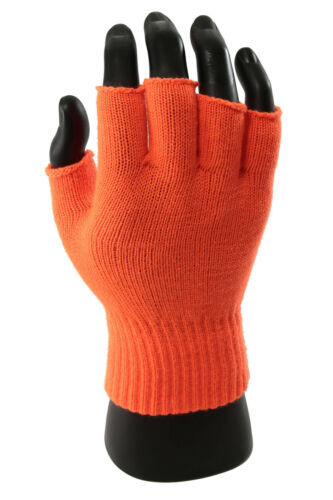 New Hot Fashion One Pair Winter Warmer Soft Knit Half Finger Gloves