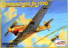 MESSERSCHMITT Bf-109 D (LUFTWAFFE & SPANISH AF MARKINGS)#271  1/72 AEROPLAST