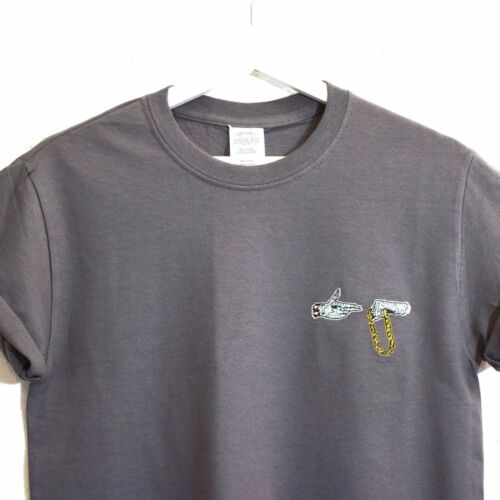Actual Fact Run The Jewels Brodé Gris Foncé Hip Hop T-Shirt