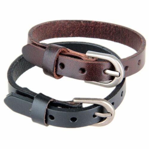 Punk Men Women Wide Leather Bracelet Cuff Wristband Bangle Accessories Charm